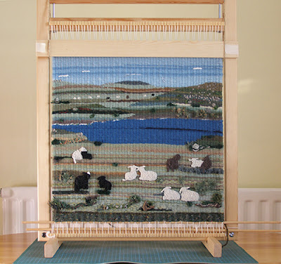 Tapestry of sheep in the Falkland Islands