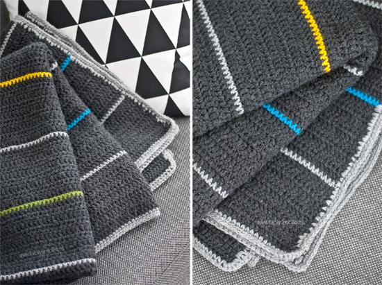 Manta de ganchillo para chico f cil y sencillo - Manta de crochet facil ...