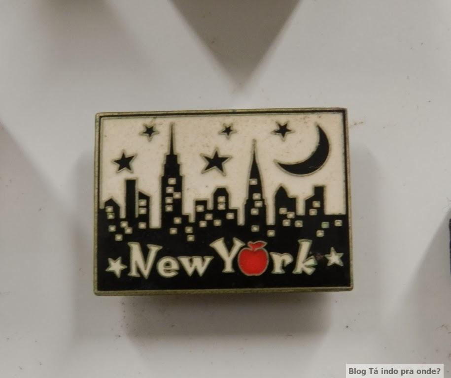 imã com o skyline de Nova York