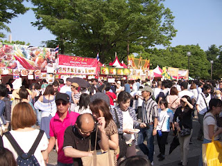 Food stalls, Laos Festival, Yoyogi, Tokyo 2012.