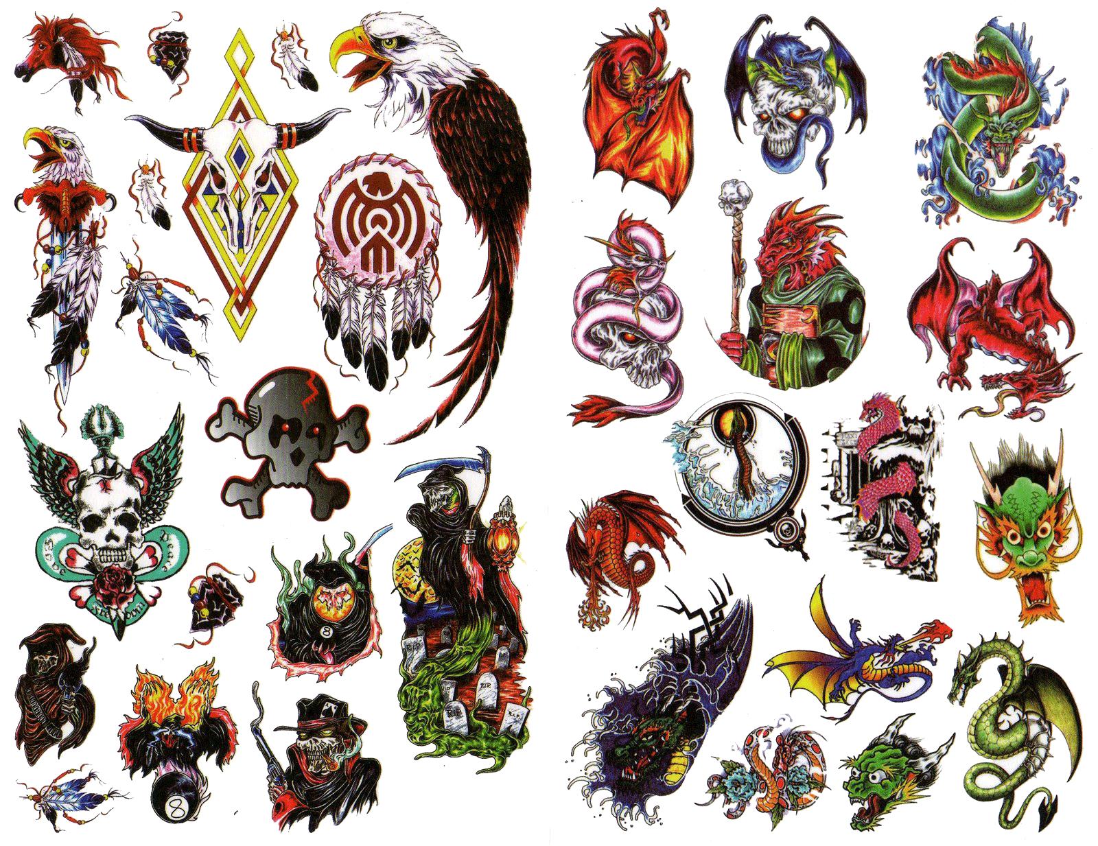 Tatuajes de colores