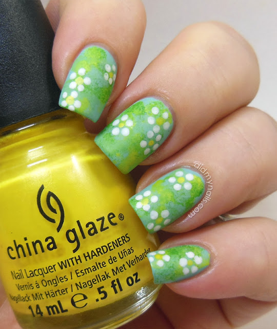 dotting tool flower nail art