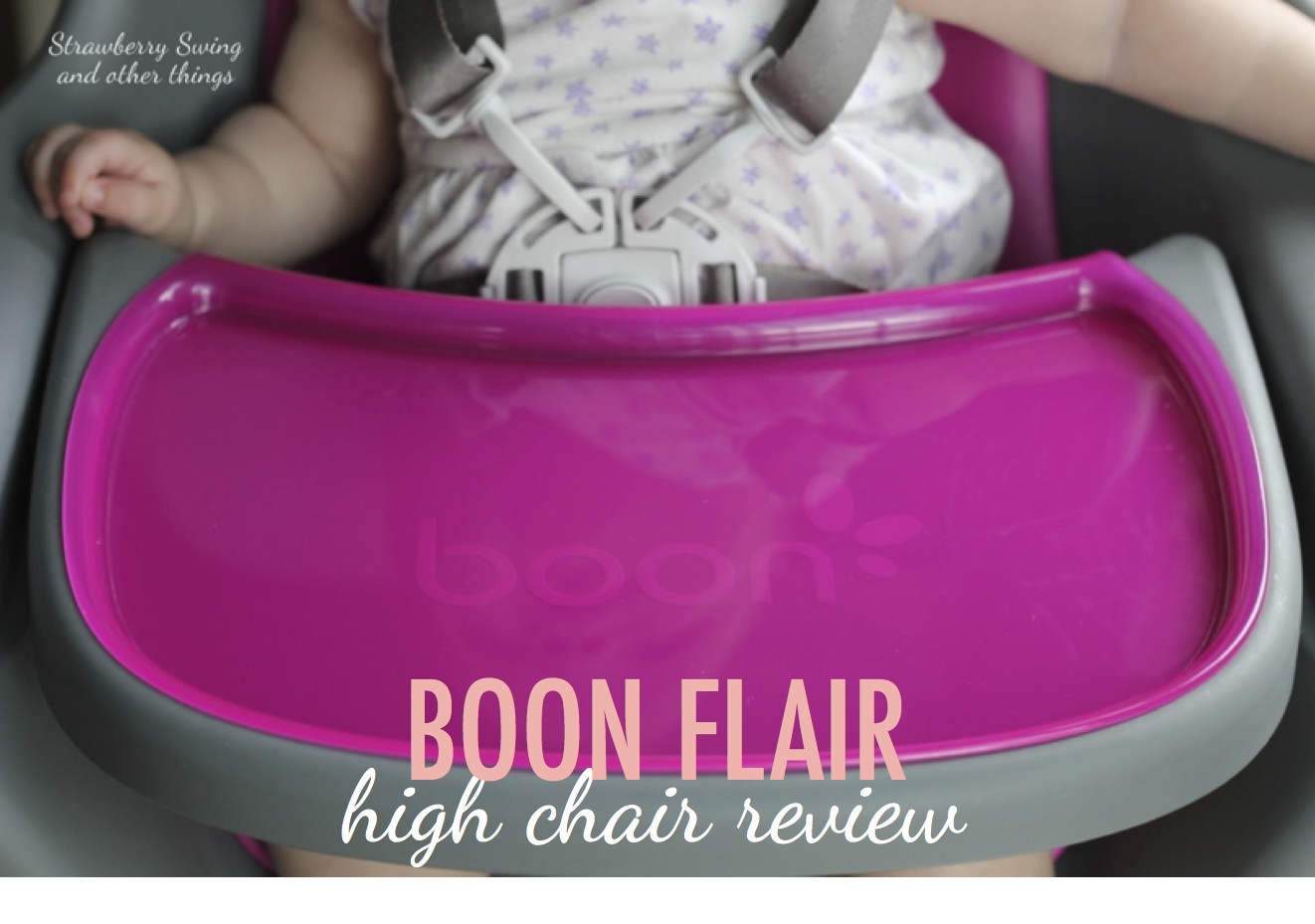 Boon flair high chair pink - Strawberry Swing And Other Things Little Foodie Boon Flair High Chair