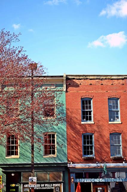 Baltimore, bay, building, color, spring, old architecture, bricks