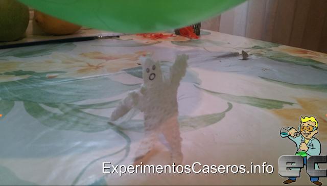 Experimentos Caseros electricidad estatica globo papel