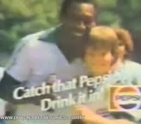 Propagada da Pepsi com Pelé nos Estados Unidos, em 1981.