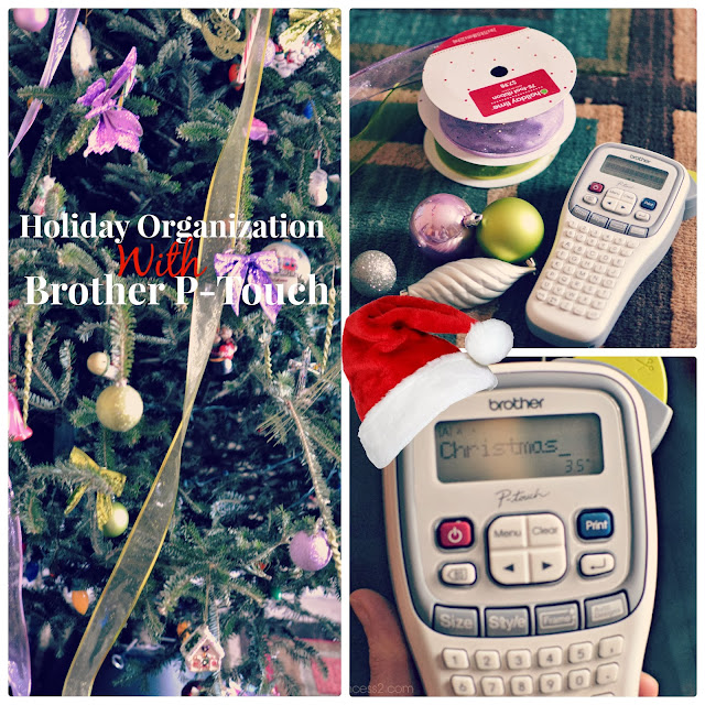 Holiday Organizing with my Brother P-Touch Label Maker #MC #Ptouch25 #Sponsored