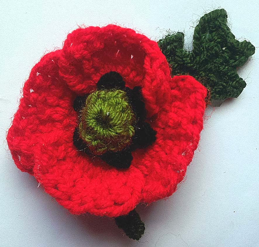 Knitting Pattern For Poppy Flowers : thredHED: Remembering.... Crochet Poppy