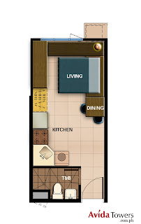 Avida Towers Prime Taft Studio Unit Plan