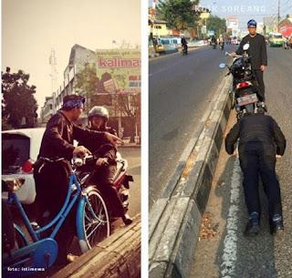 Ridwan Kamil Menghukum pelanggar lalulintas di kota Bandung