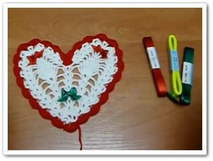 онлайн видео Как связать сердечко крючком