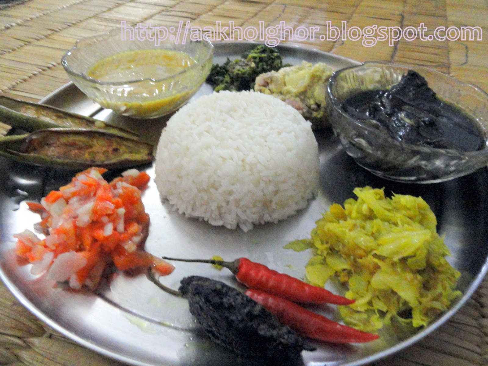 how to cook assamese mahar dali