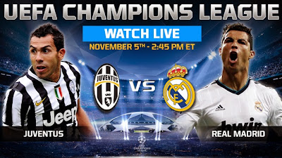 juventus vs real live
