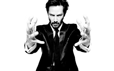 Keanu Reeves with Beard and Suit Black and White Photo HD Wallpaper