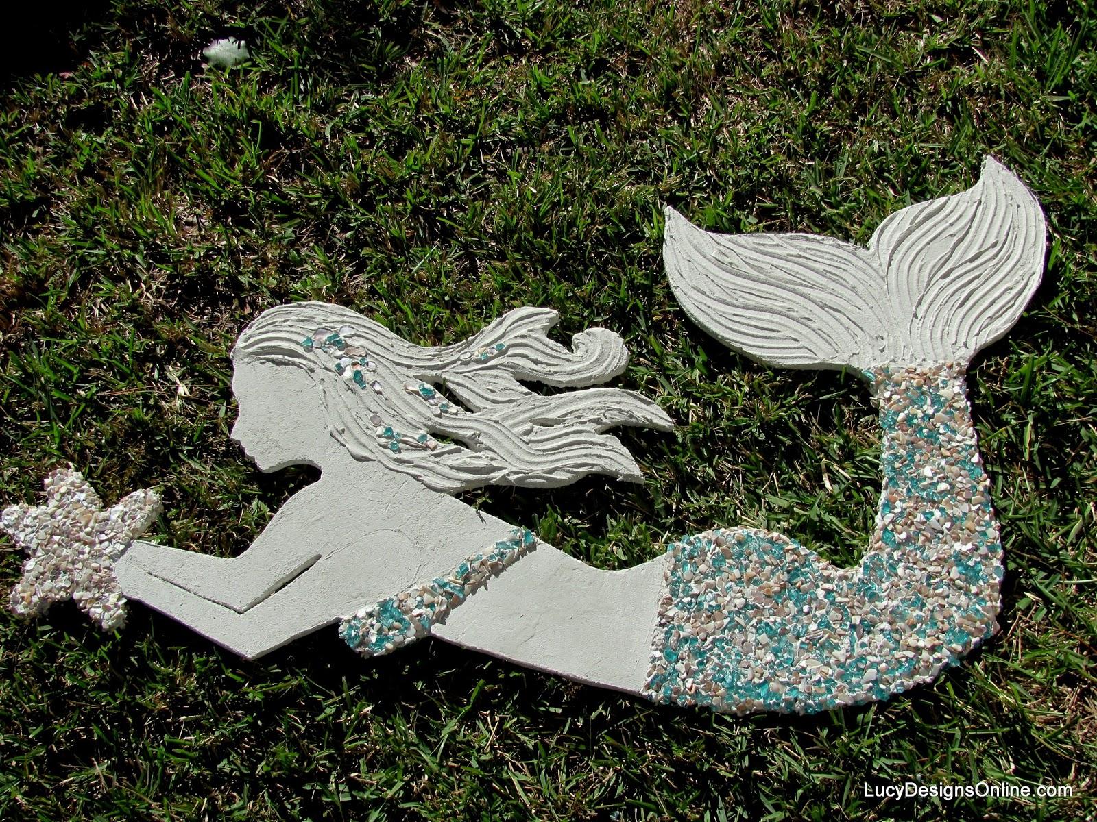 outdoor mermaid art with wedi board
