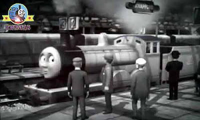 Birthday Sir Topham Hatt and Edward the train engine visit Sodor Island countryside village stations