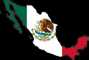 Mexico-Flag map