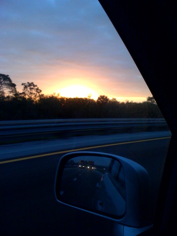 michelle martine merrill 39 s picture of the day sunrise over the florida turnpike. Black Bedroom Furniture Sets. Home Design Ideas