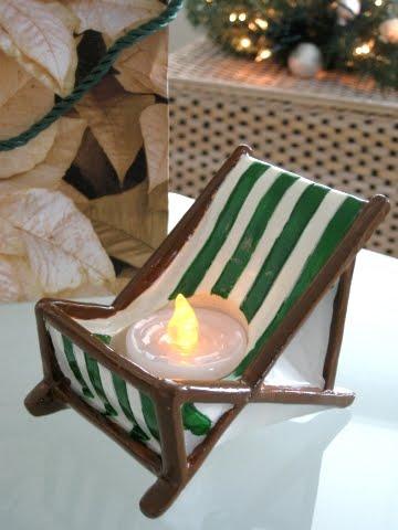 beach chair candle holder