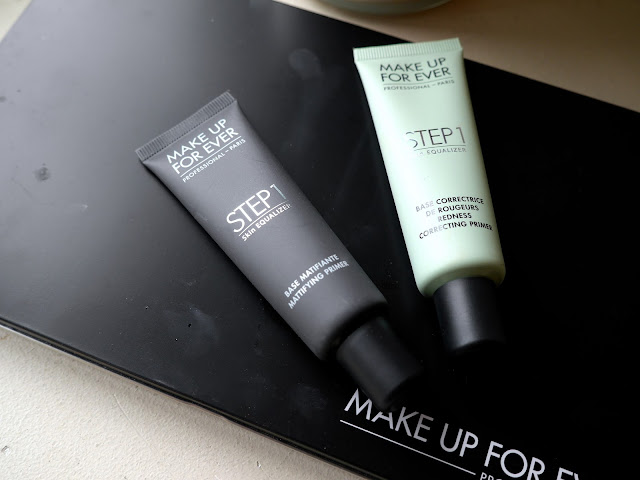 make up for ever mufe step 1 equalizer mattifying primer redness correcting primer review swatch
