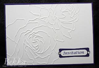 Manhattan Flower Wedding Invite