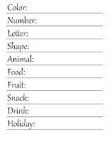 Free printable 'My Favorite Things' page