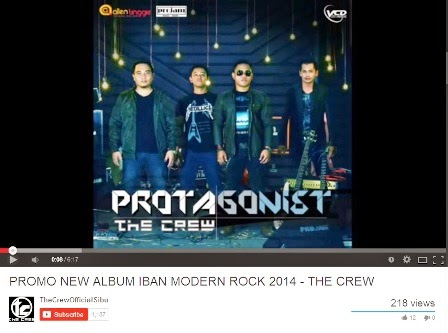 Album Protagonist 'The Crew' Band - Iban Modern Rock Band