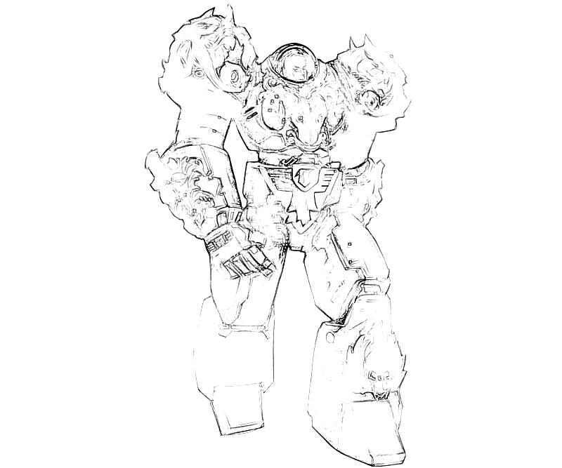 Starcraft ii heart of the swarm horace armored surfing for Starcraft coloring pages
