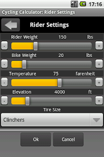 Cycling Calculator, a Bicyclist App 2
