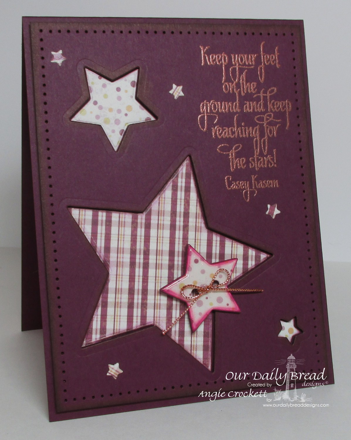 Stamps - Our Daily Bread Designs Reach For The Stars, ODBD Custom Sparkling Stars Dies, ODBD Rustic Beauty Paper Collection
