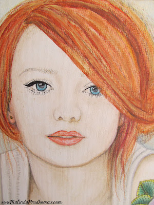 beauty art, portrait artist, portrait painting, mixed media art, mixed media artist, tattoo art, scottish red