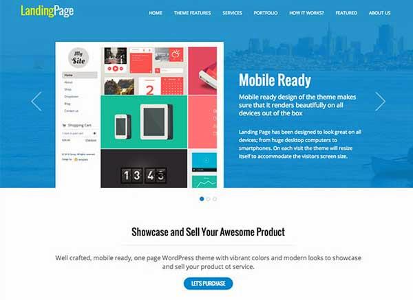 WordPress Landing Page Theme