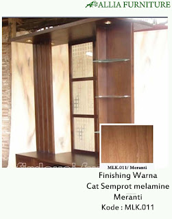 Contoh Furniture Semprot Melamine Meranti