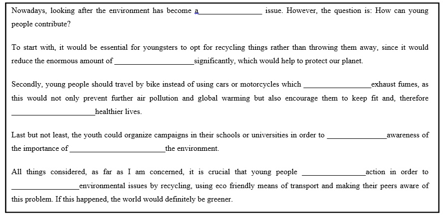 Write my an essay about environmental problems