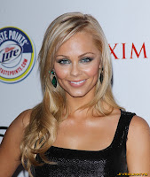 Laura Vandervoort in a Sexy little black dress at 2011 Maxim Hot 100 Party