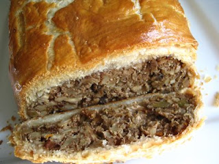 Mushroom Nut Roast in Golden Puff Pastry