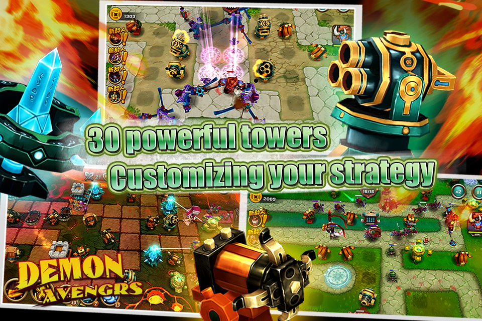 Demon Avengers TD v1 Mod (Unlimited Coins) APK+DATA