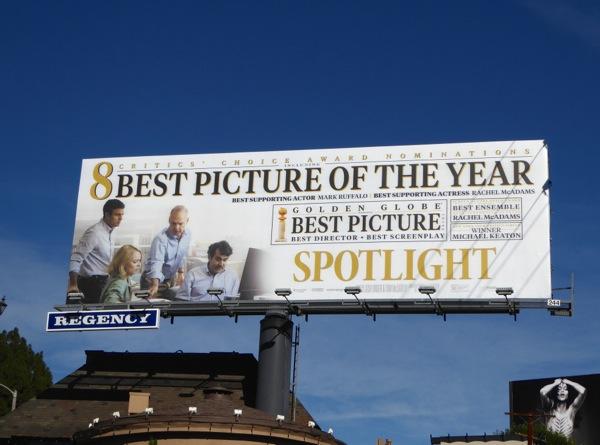 Spotlight Best Picture billboard