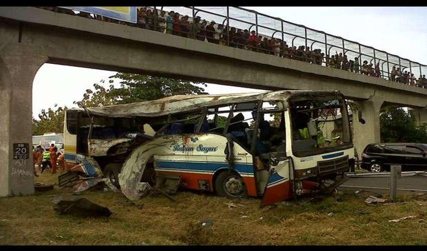 Korban Kecelakaan Tol Palikanci Bus jurusan Lampung-Pati