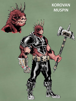 Bigfoot comic book villain barbarian
