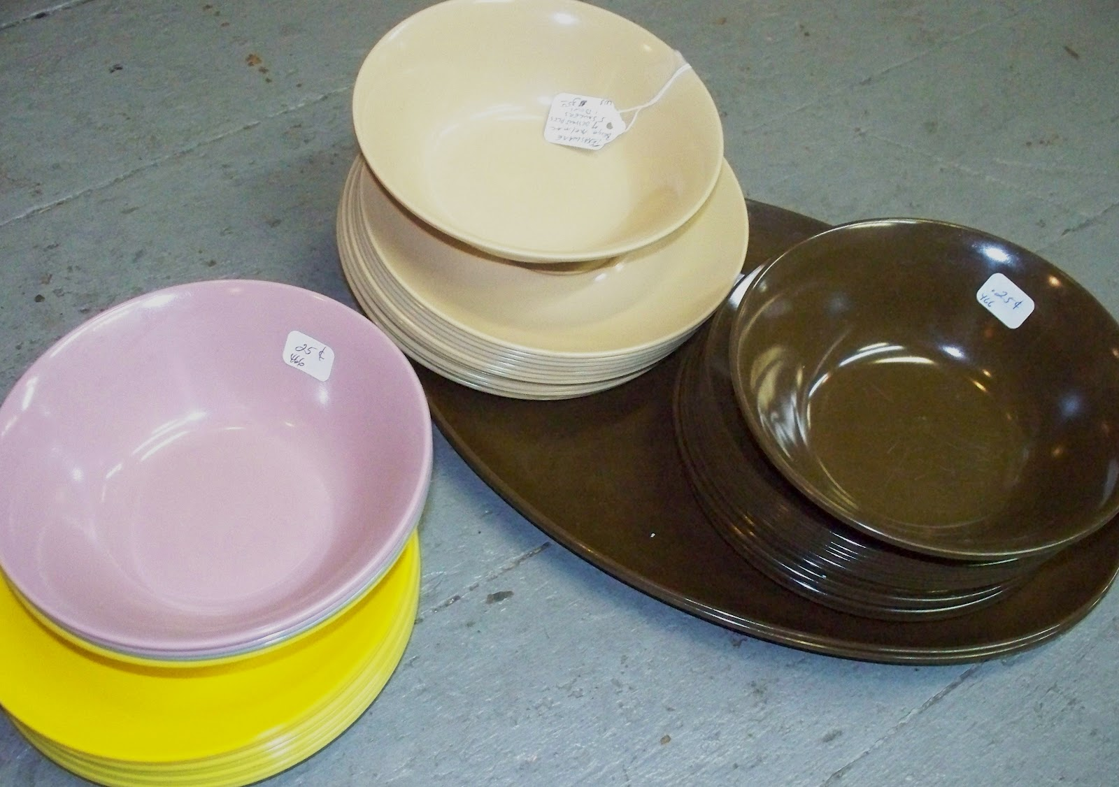 These continued into the 1980\u0027s and 90\u0027s but the dinnerware sets for home ... & Antiques Attic: TexasWare--Melmac