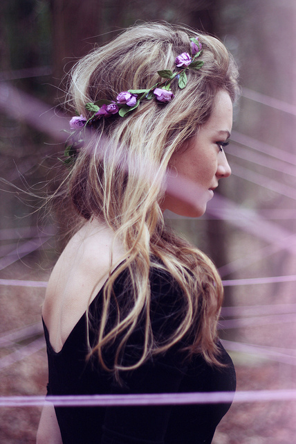 flower headband tumblr girl - photo #23