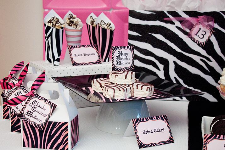 Decoracao De Sala Zebra ~ inspiration party} a chic zebra party – Oink! The Blog by Piggy