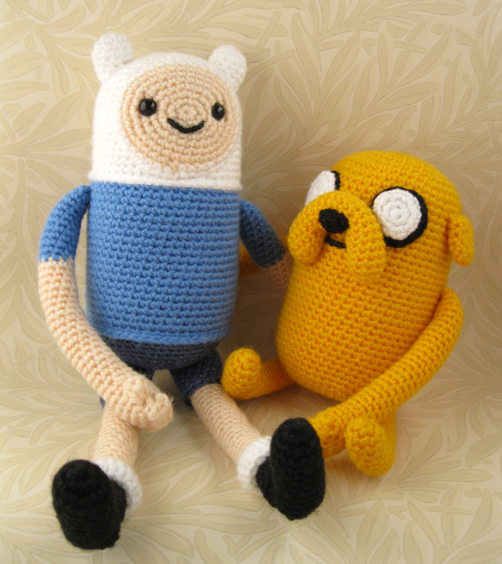 lucyravenscar crochet creatures adventure time with finn and jake. Black Bedroom Furniture Sets. Home Design Ideas