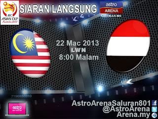 LIVE STREAMING KELAYAKAN PIALA ASIA MALAYSIA VS YAMAN