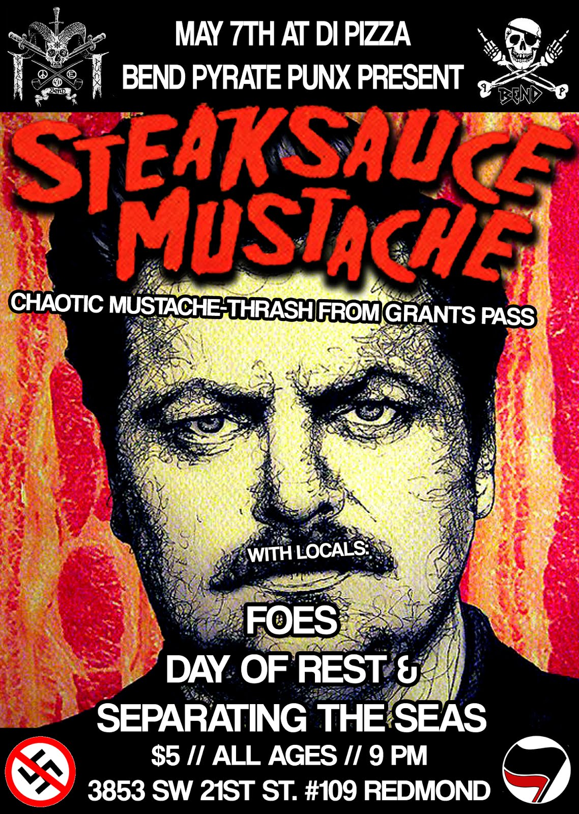 STEAKSAUCE MUSTACHE, FOES, DAY OF REST, & SEPARATING THE SEAS