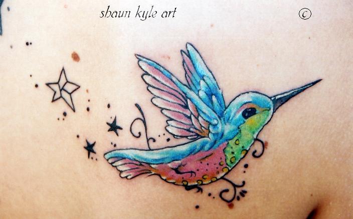Image Gallary 1 Beautiful Hummingbird Tattoos Designs