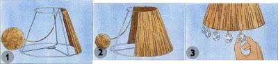 Como reciclar um abajur usando lã