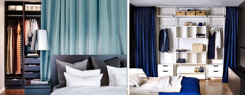 Armarios lowcost con cortinas decorar tu casa es - Armarios con cortinas ...