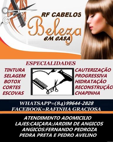 RF CABELOS BELEZA EM CASA COM RAFINHA